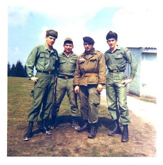 Soldats  US et moi à Grafenwöhr